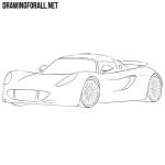 How to Draw a Hennessey Venom GT
