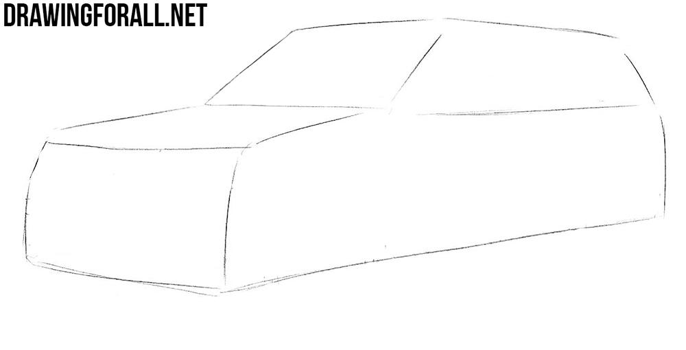 range rover sketch
