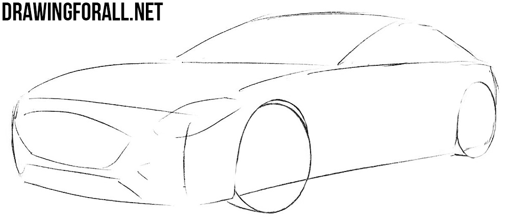 how to draw a mercedes amg gt