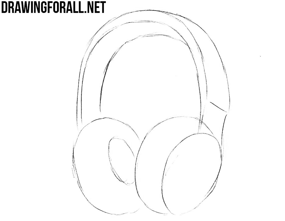 How to draw headphones step by step