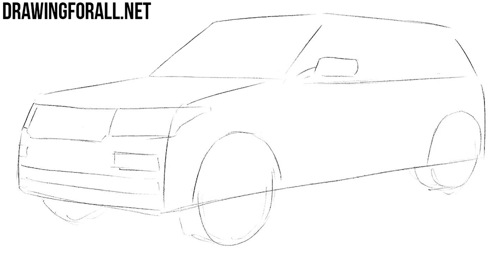 learn how to draw a range rover
