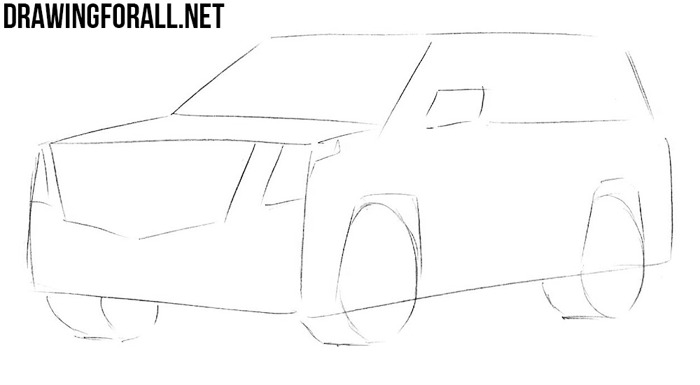 learn to draw a Cadillac Escalade