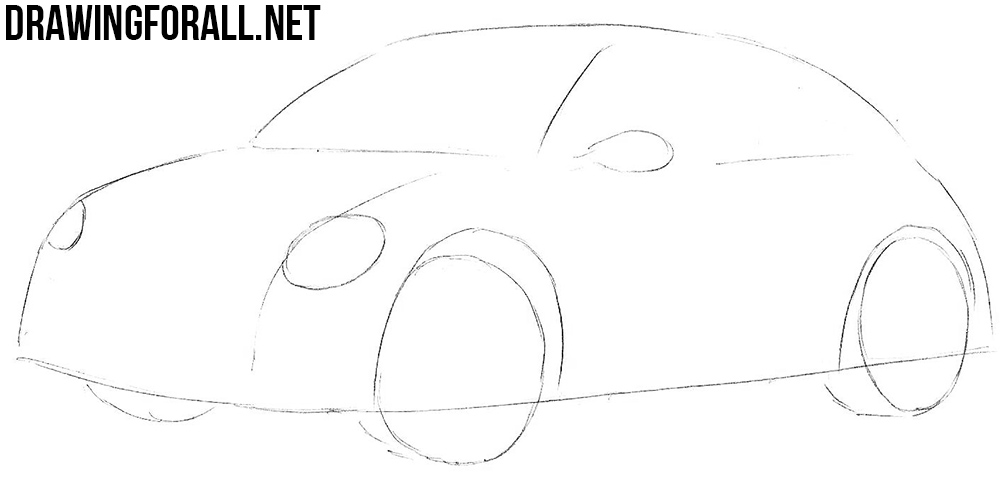 learn to draw a volkswagen beetle