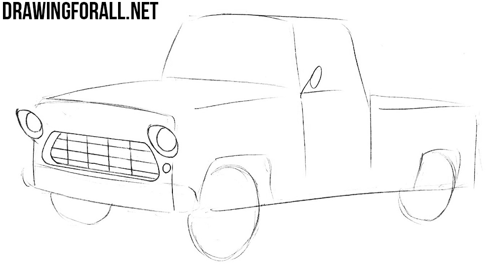 draw a Chevy Truck step by step