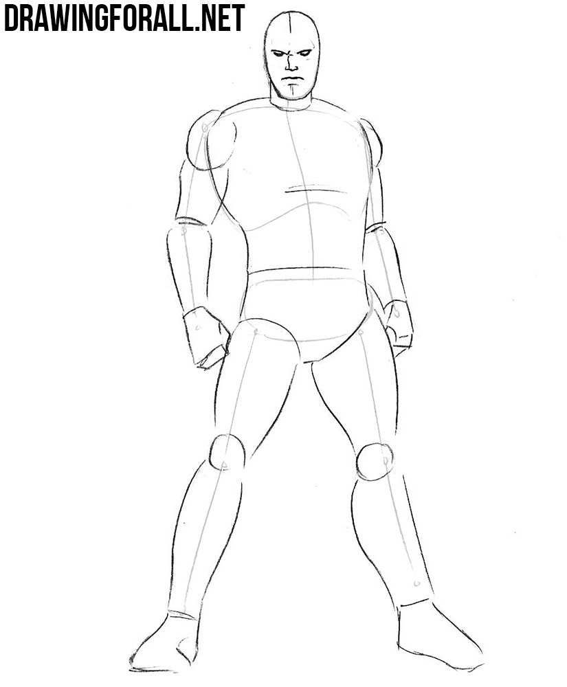 how to draw Colossus from x men