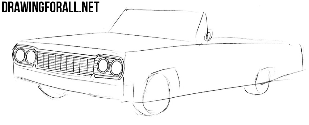 how to draw a Chevrolet Impala draw