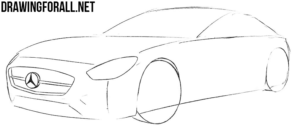 how to draw a mercedes benz