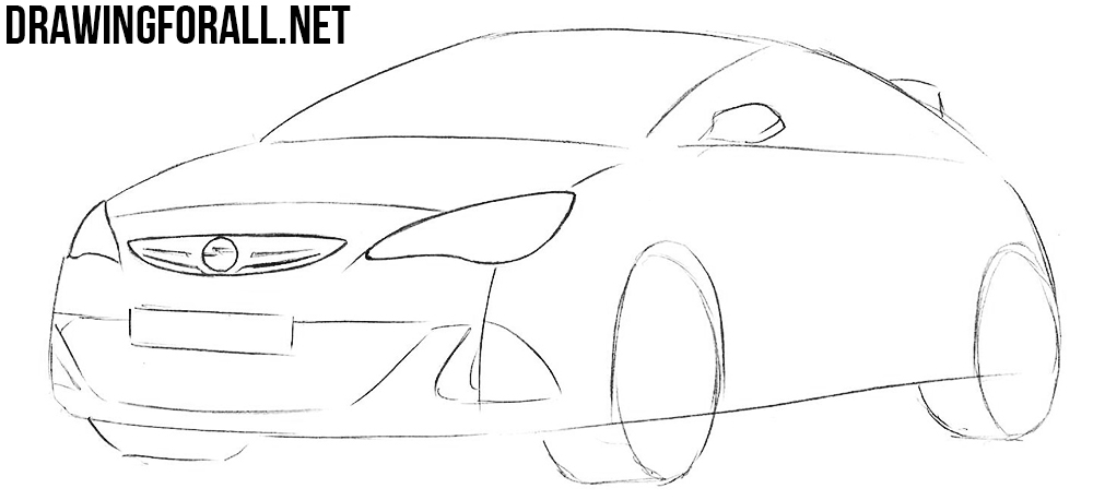 how to draw a vauxhall astra