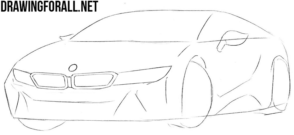learn to draw a bmw i8