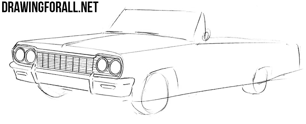 4 Chevrolet Impala drawing tutorial