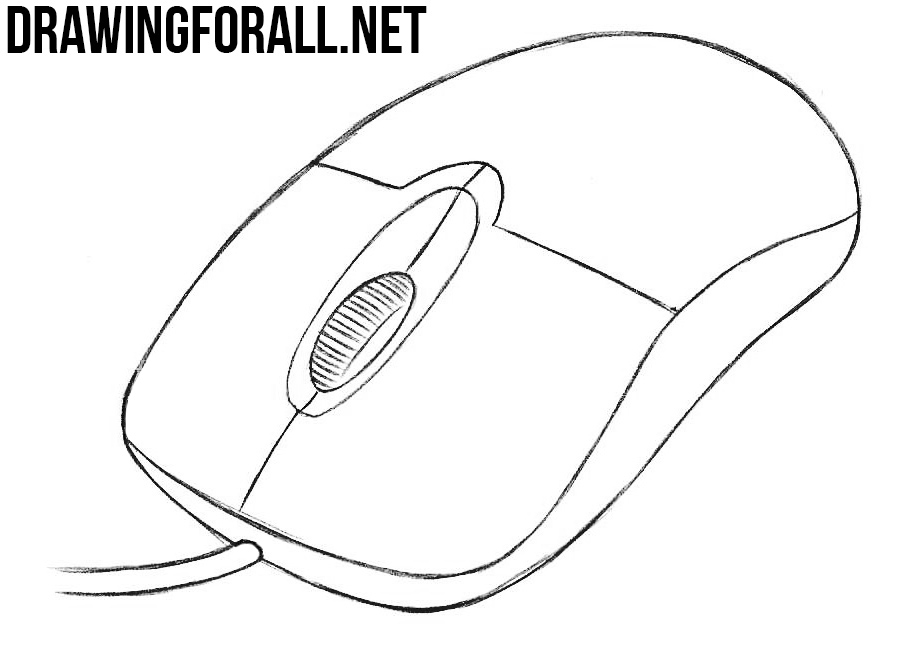 How to draw a computer mouse for How to draw with a mouse