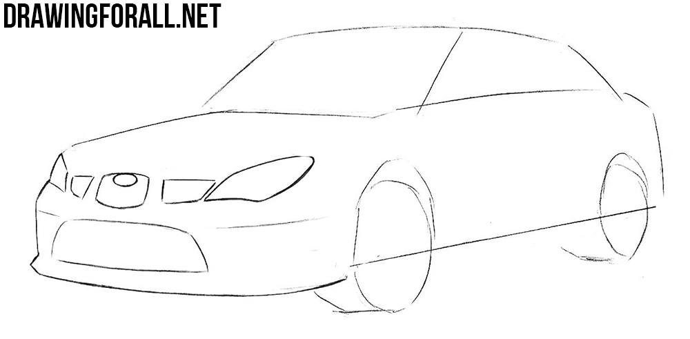 how to draw a subaru
