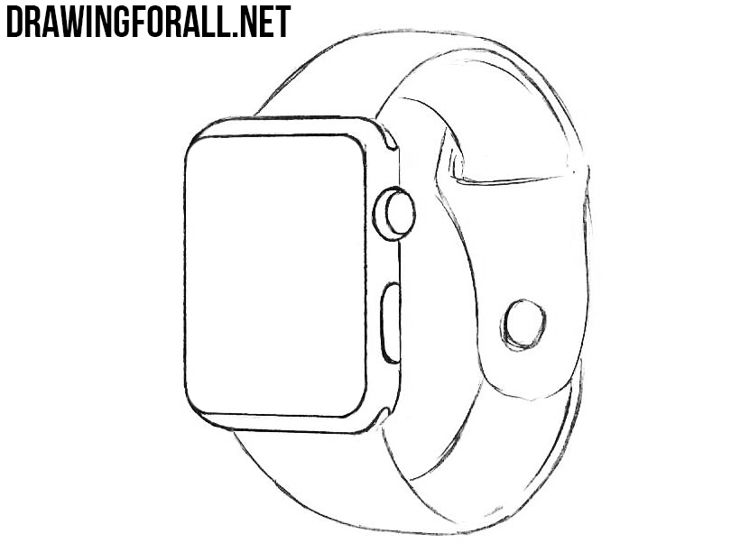 learn to draw an Apple Watch
