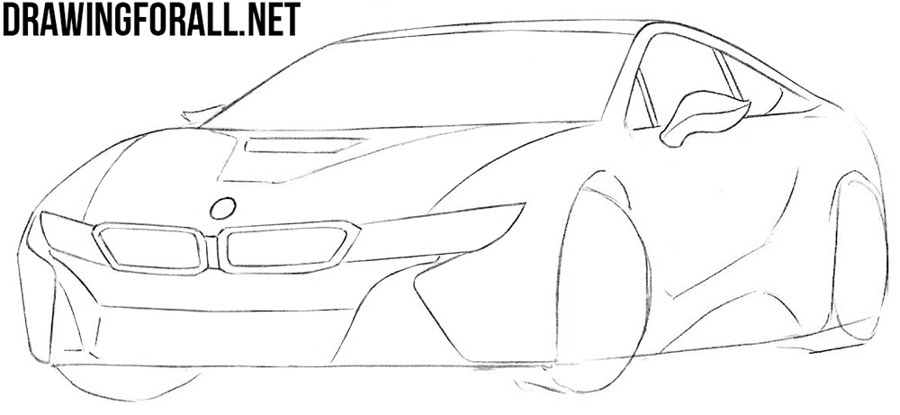 bmw i8 drawing tutorial