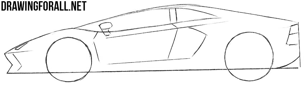 how to draw a sports cars