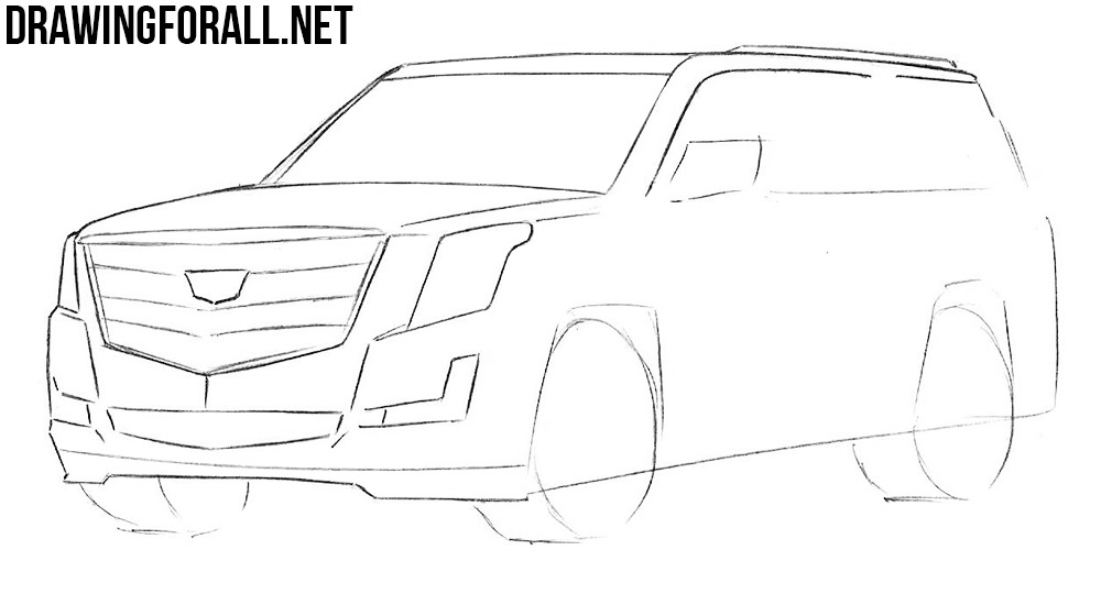 how to draw an Escalade