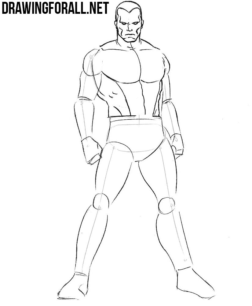 learn how to draw Colossus step by step
