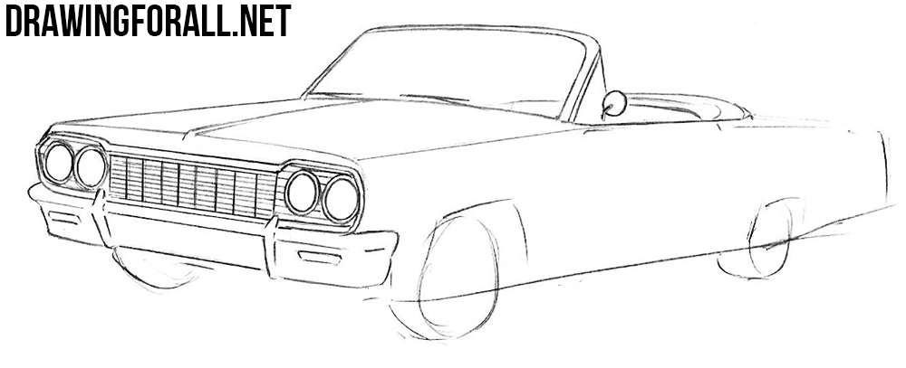 learn how to draw a Chevrolet Impala
