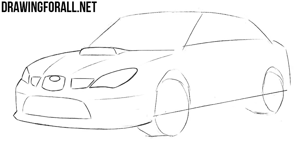learn how to draw a subaru impreza wrx sti