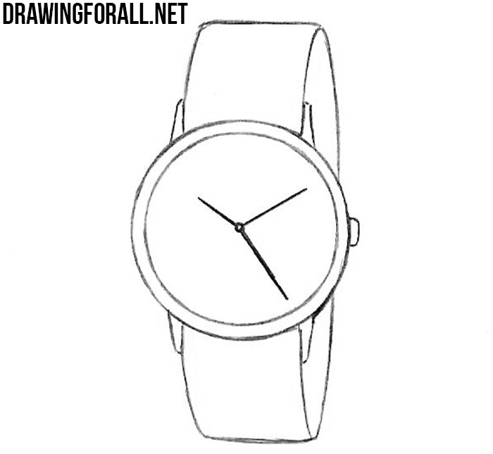 learn how to draw a watch step by step