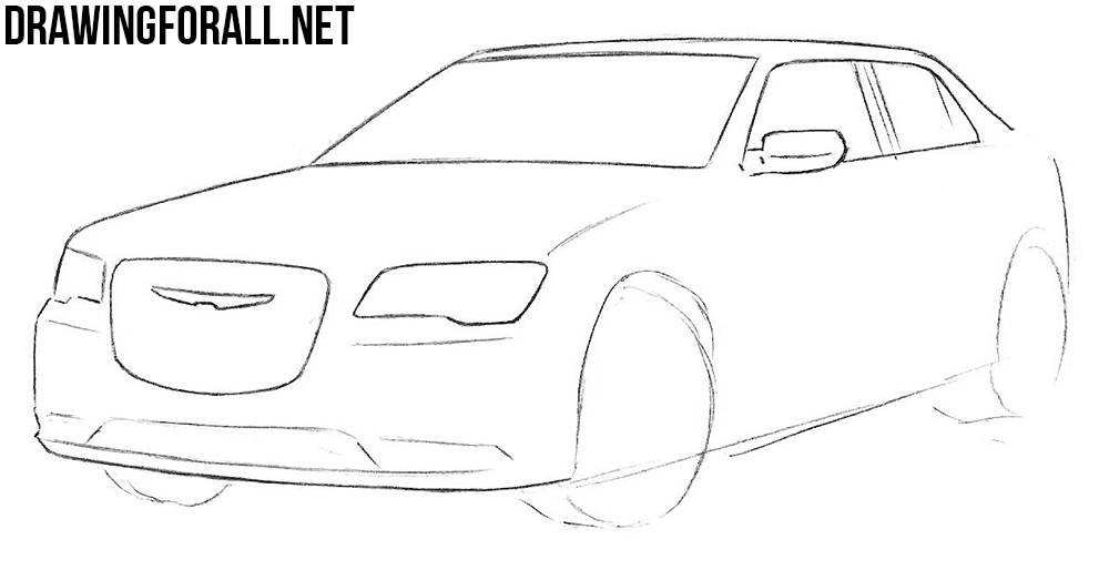 learn to draw a Chrysler 300c