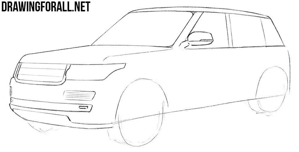 learn to draw a range rover