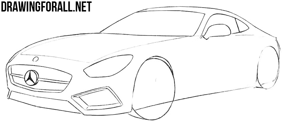 how to draw a mercedes