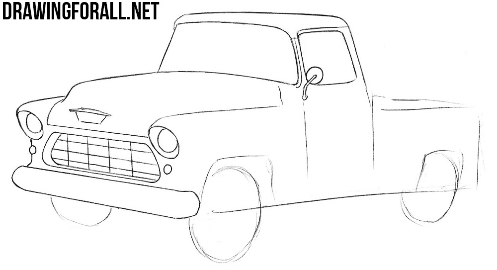 How To Draw A Chevy Truck Drawingforall Net