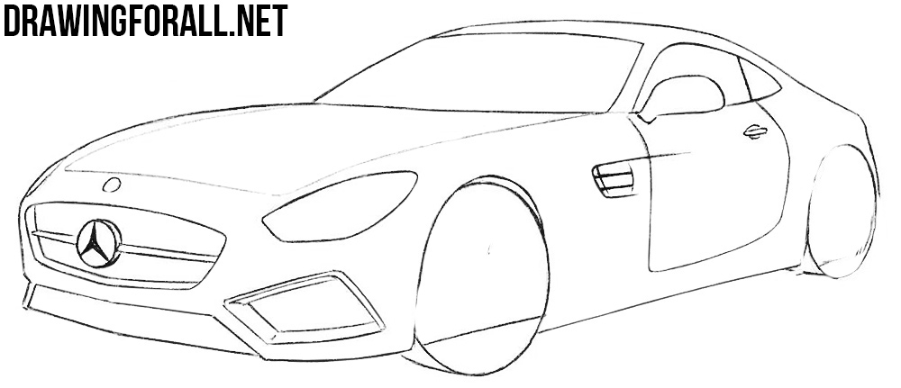 how to draw a sports car