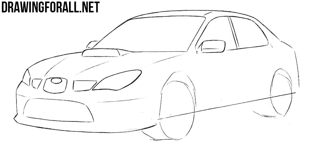 how to draw a subaru step by