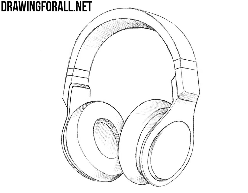 Line Art Headphones : How to draw headphones drawingforall