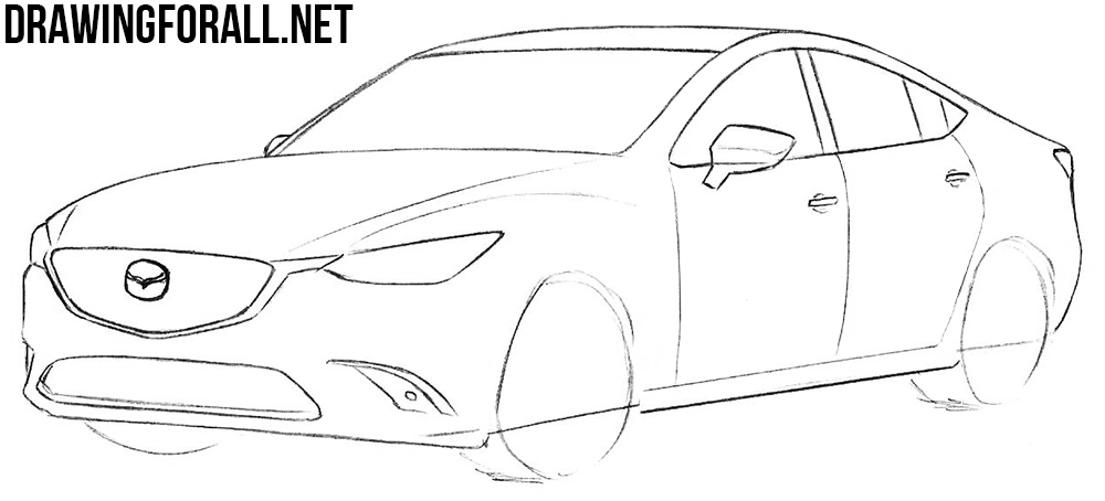 learn how to draw a Mazda 6