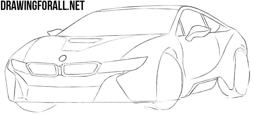 learn how to draw a bmw i8