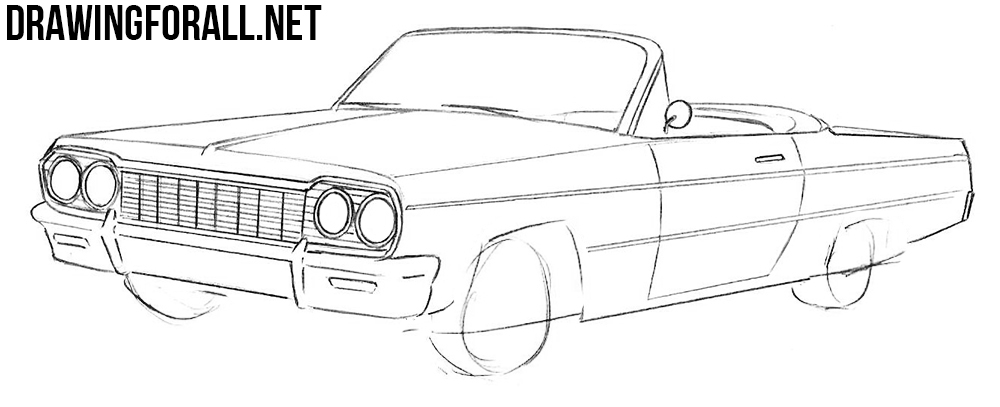 learn to draw a Chevrolet Impala