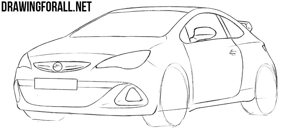 learn to draw a opel astra