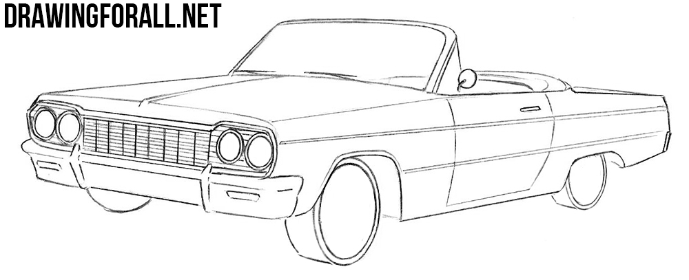 Chevrolet Impala drawing tutorial