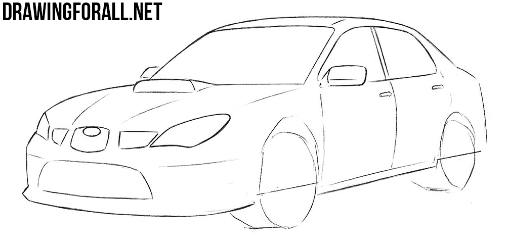 learn to draw a subaru