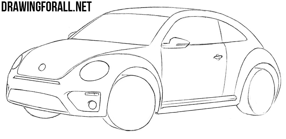 learn to draw a volkswagen