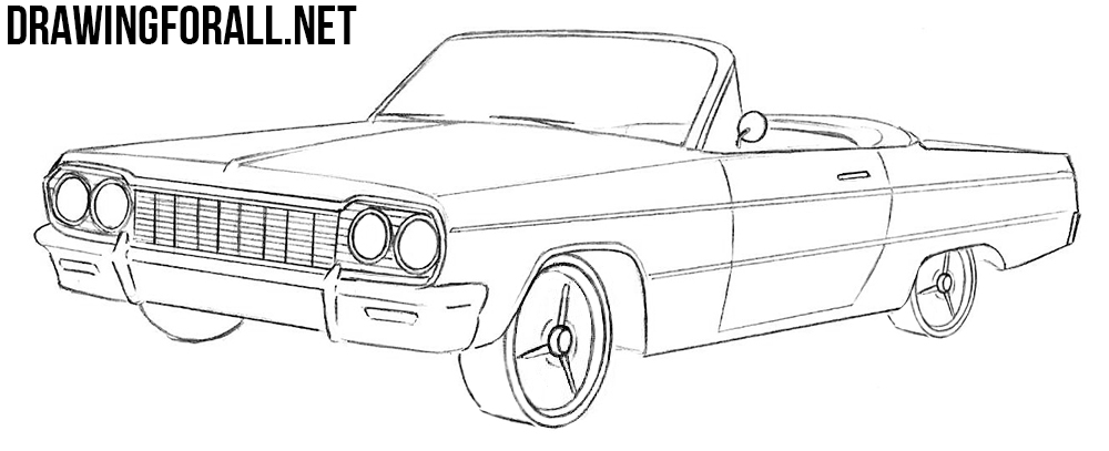 How to Draw a Chevrolet Impala 1964