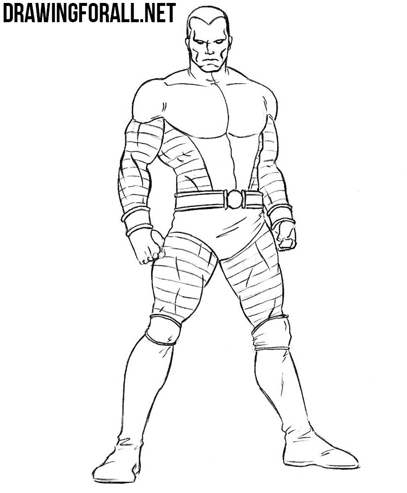 how to draw Colossus from marvel