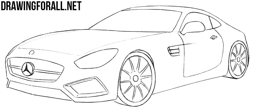 how to draw a mercedes benz amg gt