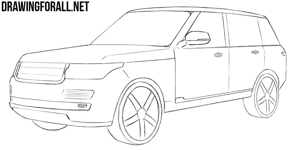8 how to draw a range rover