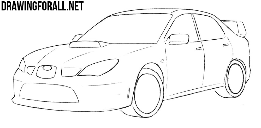 how to draw a subaru impreza