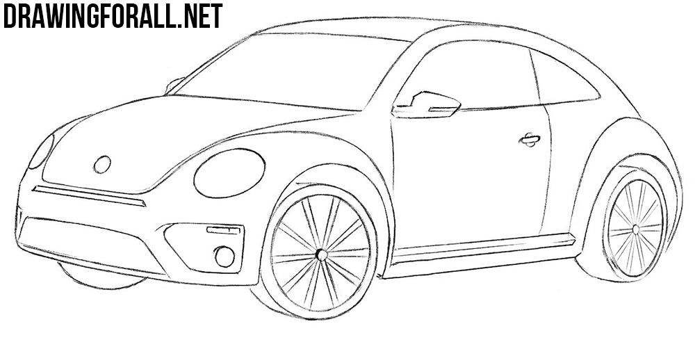 volkswagen beetle drawing tutorial