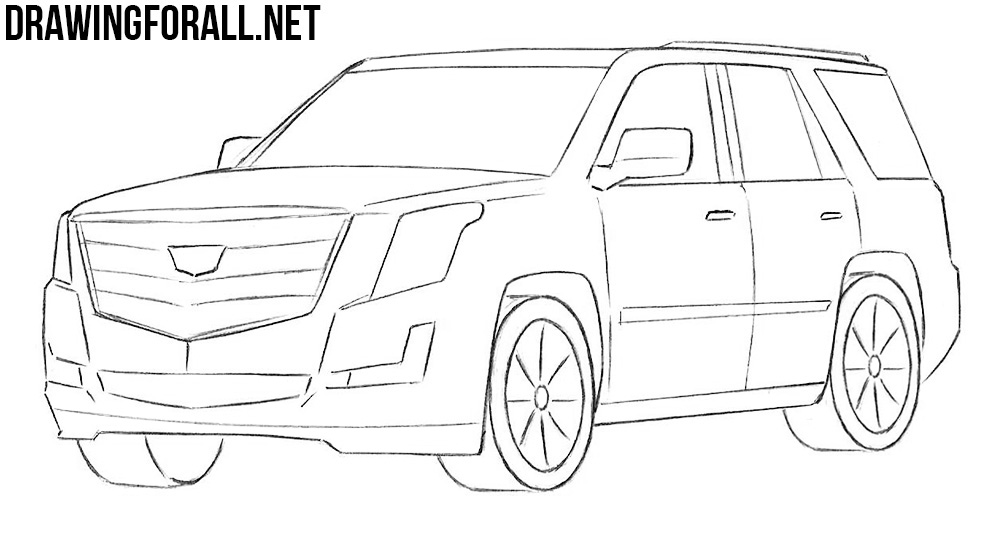basic car drawing