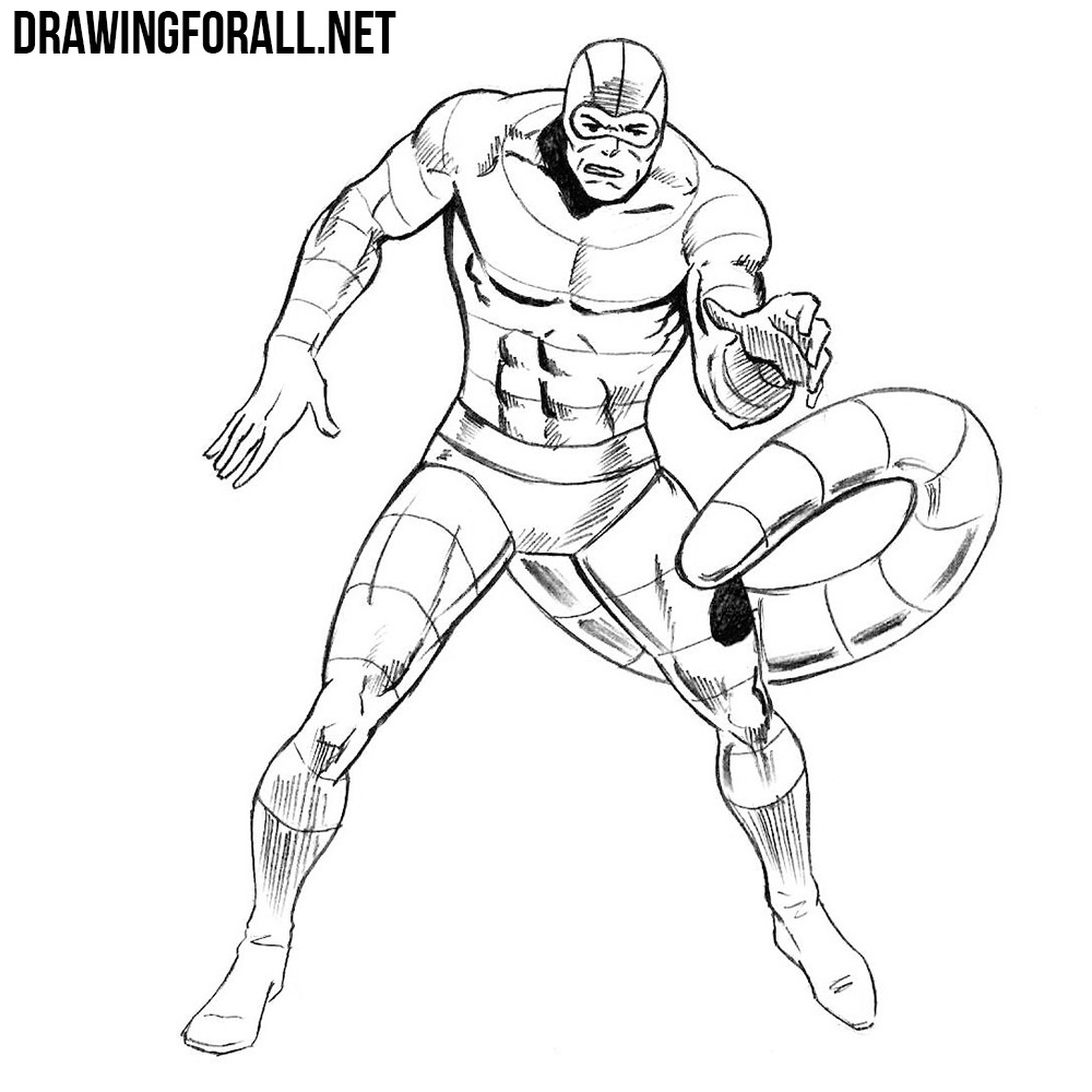 how to draw Scorpion from marvel