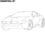 How to Draw a Bmw i8 Step by Step