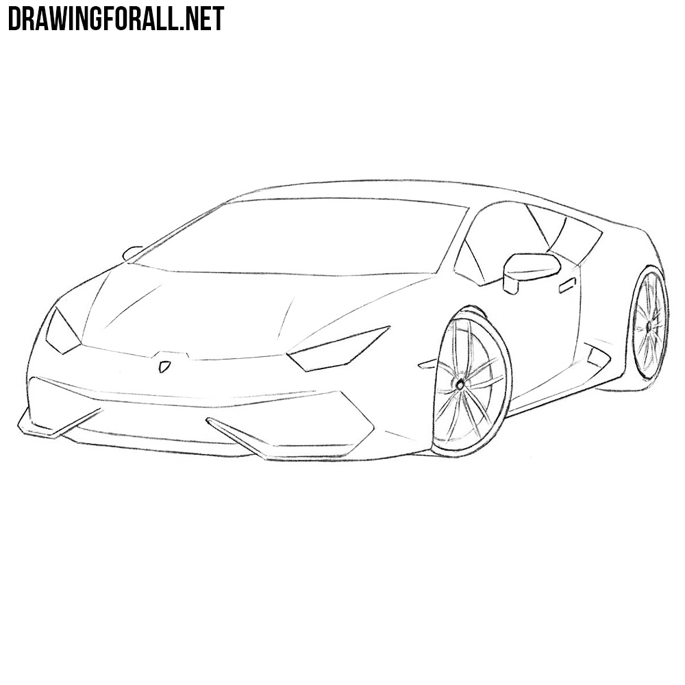 How to Draw a Sports Car Step by Step | DrawingForAll.net