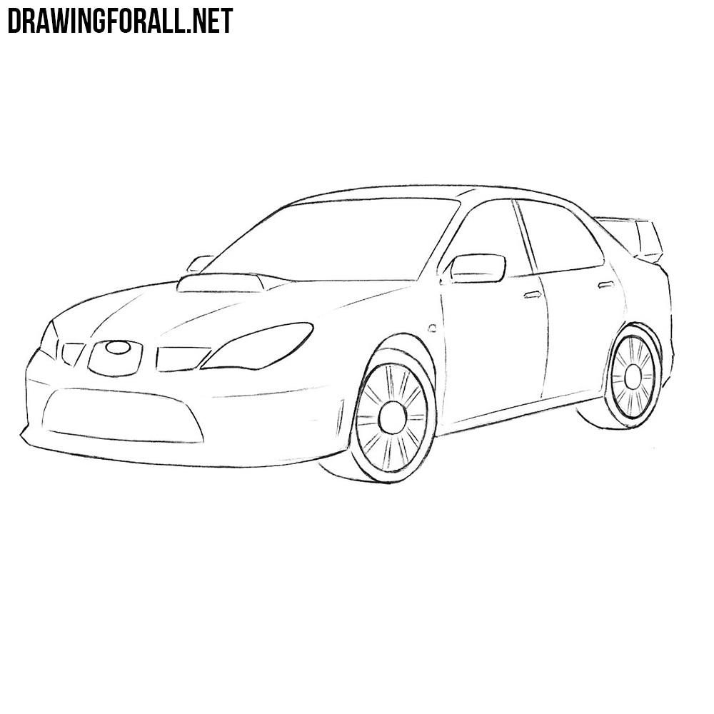 how to draw a subaru brz drawingforall net