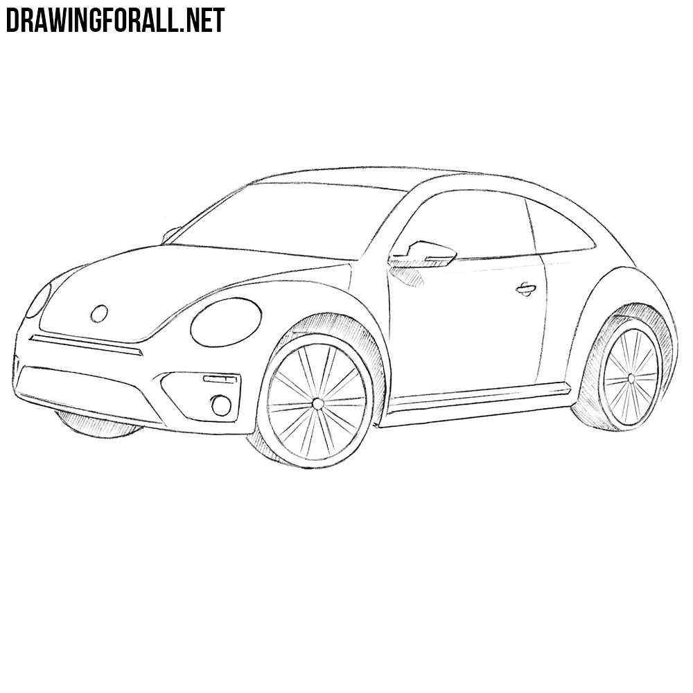 How To Draw A Volkswagen Beetle Drawingforall Net